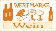 1000 Wertmarken Wein, orange